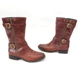 Born Gorgeous Leather Zip up Boots - size 8.5 M
